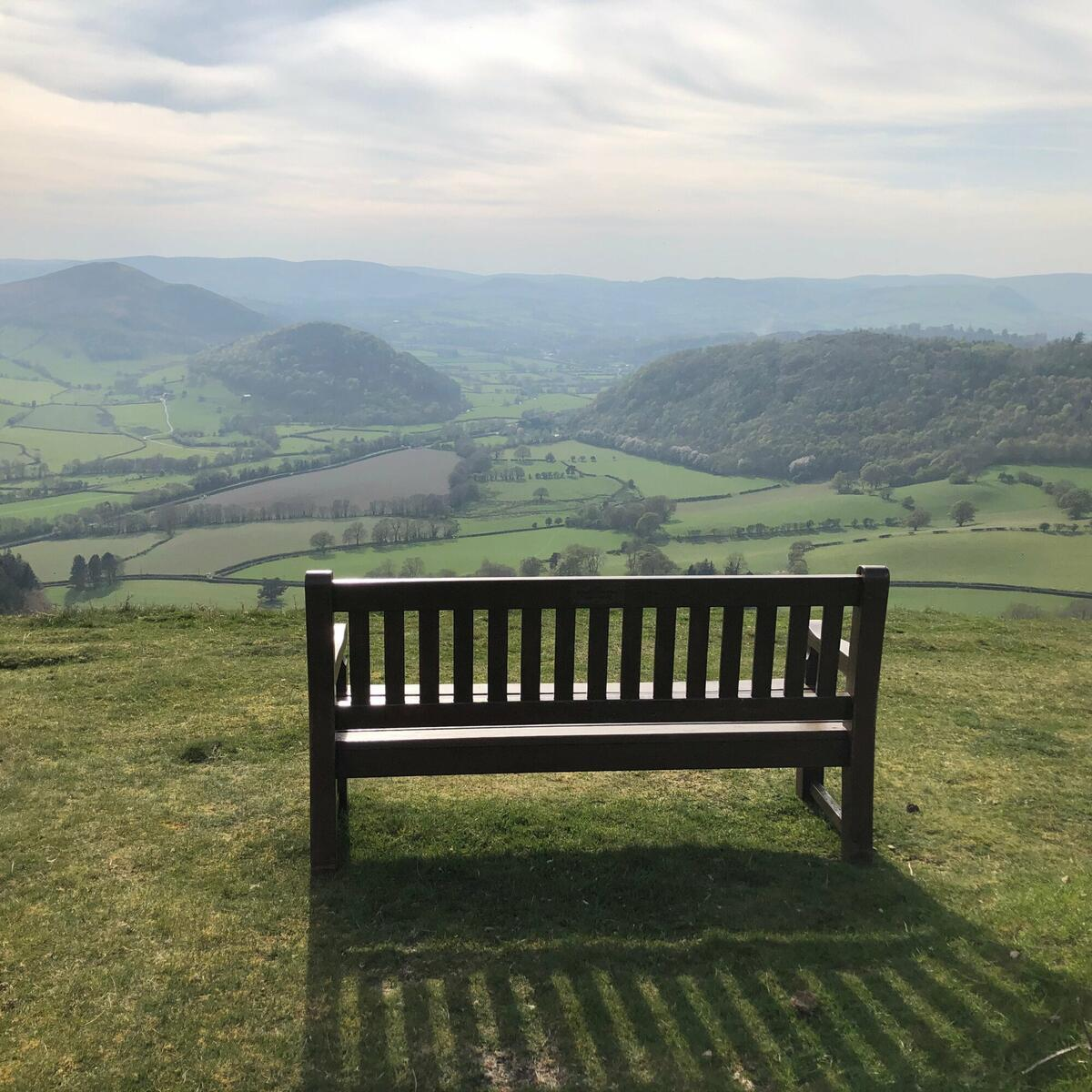 A favourite bench with a spectacular view