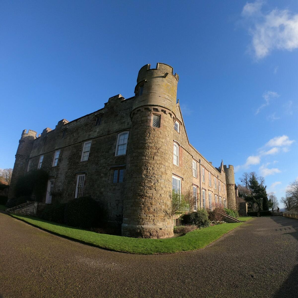 Blue skies over the castle