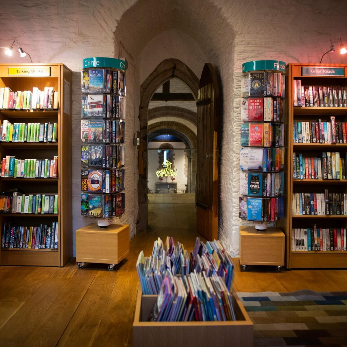 The Hub houses a small outpost of Herefordshire Libraries