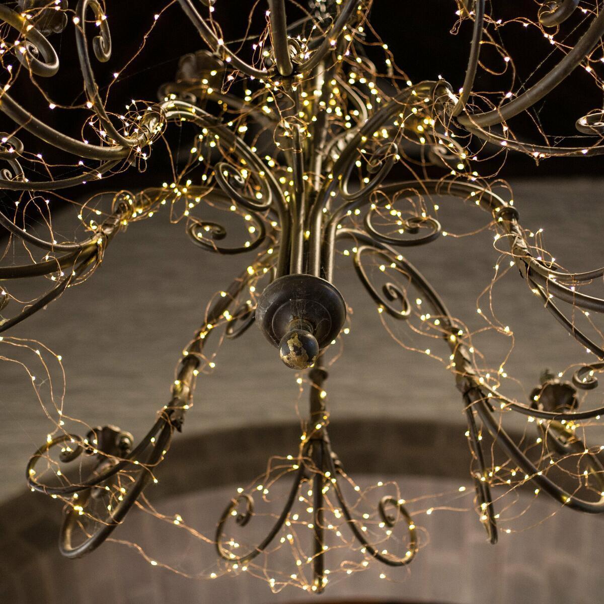 The Hub's wonderful chandelier