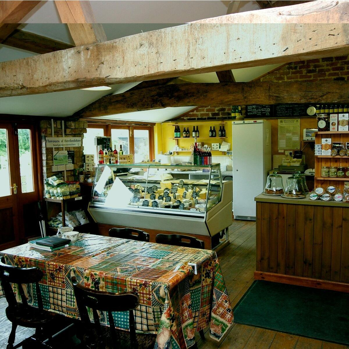 Our cafe & Cheese Shop.