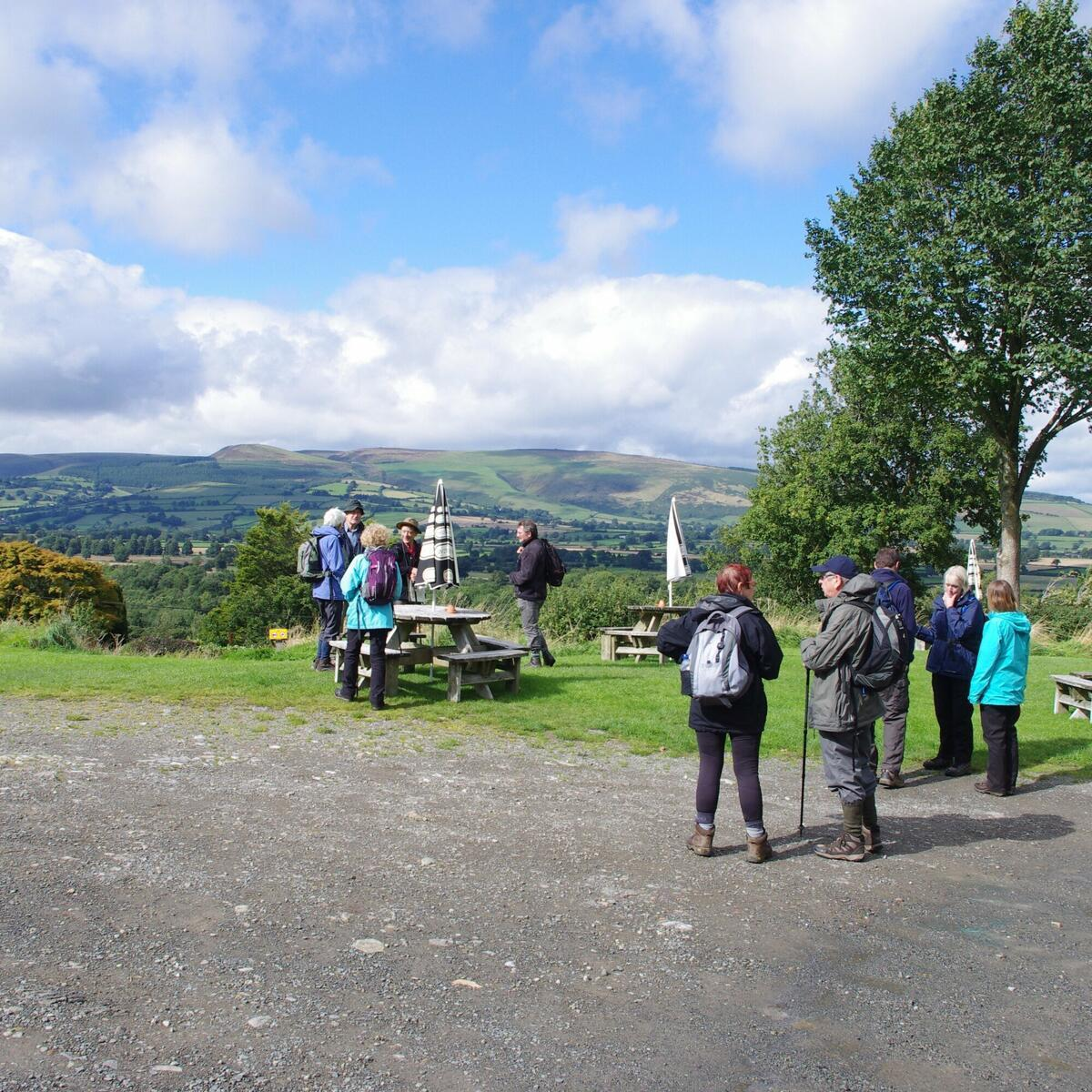 Looking to Radnor Forest after pub stop