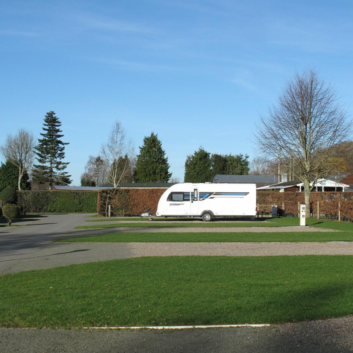 Fully serviced touring pitches