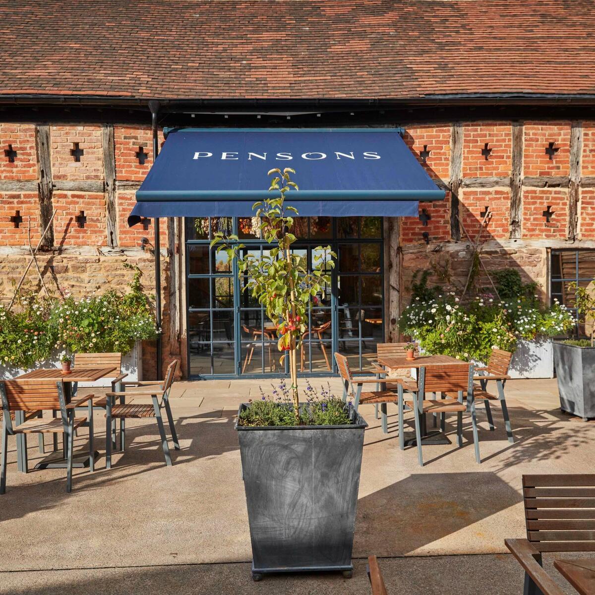 Pensons Restaurant Courtyard by Jodi Hinds