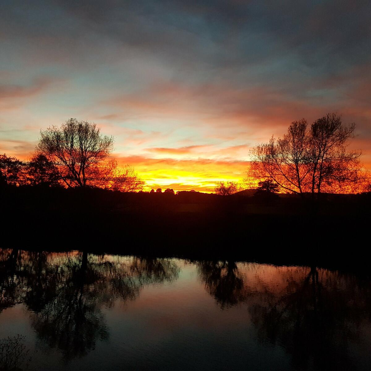 Amazing sunsets across the River Wye