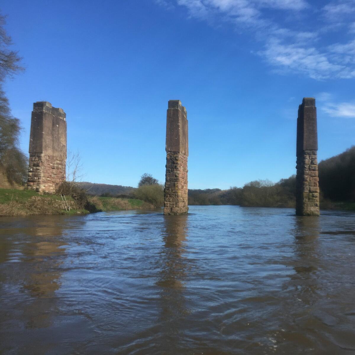Canoe the Wye Bridge stantions