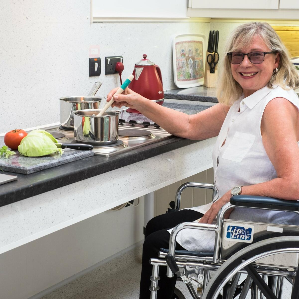 Accessible Kitchen, rise and fall work top, Valley View