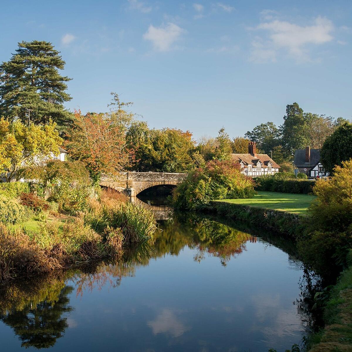 Picturesque Eardisland Tudor village