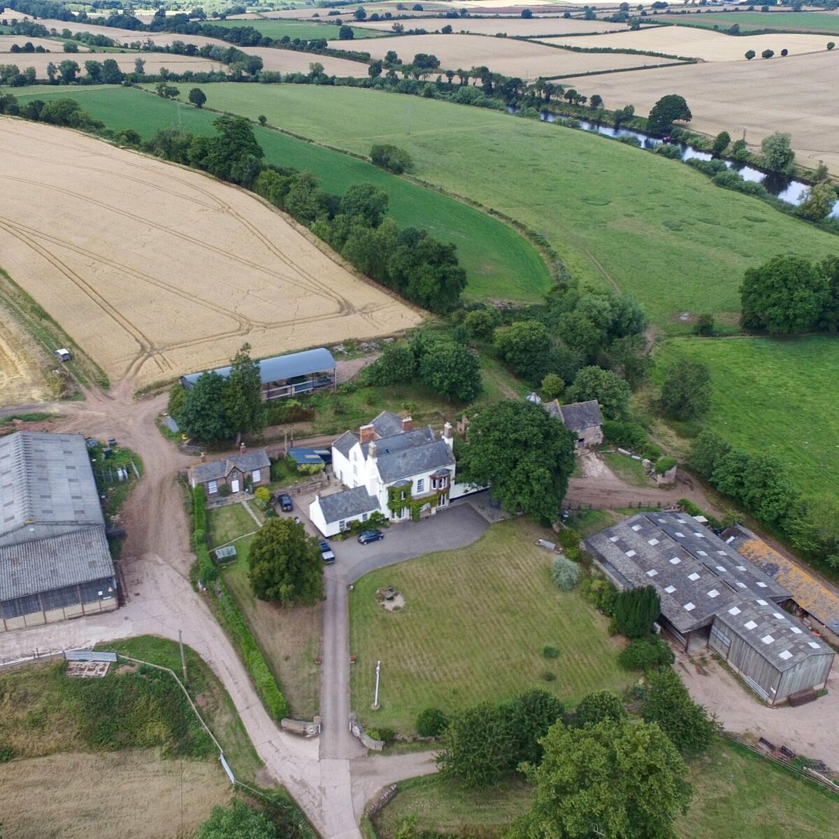 Benhall Farm Ariel View