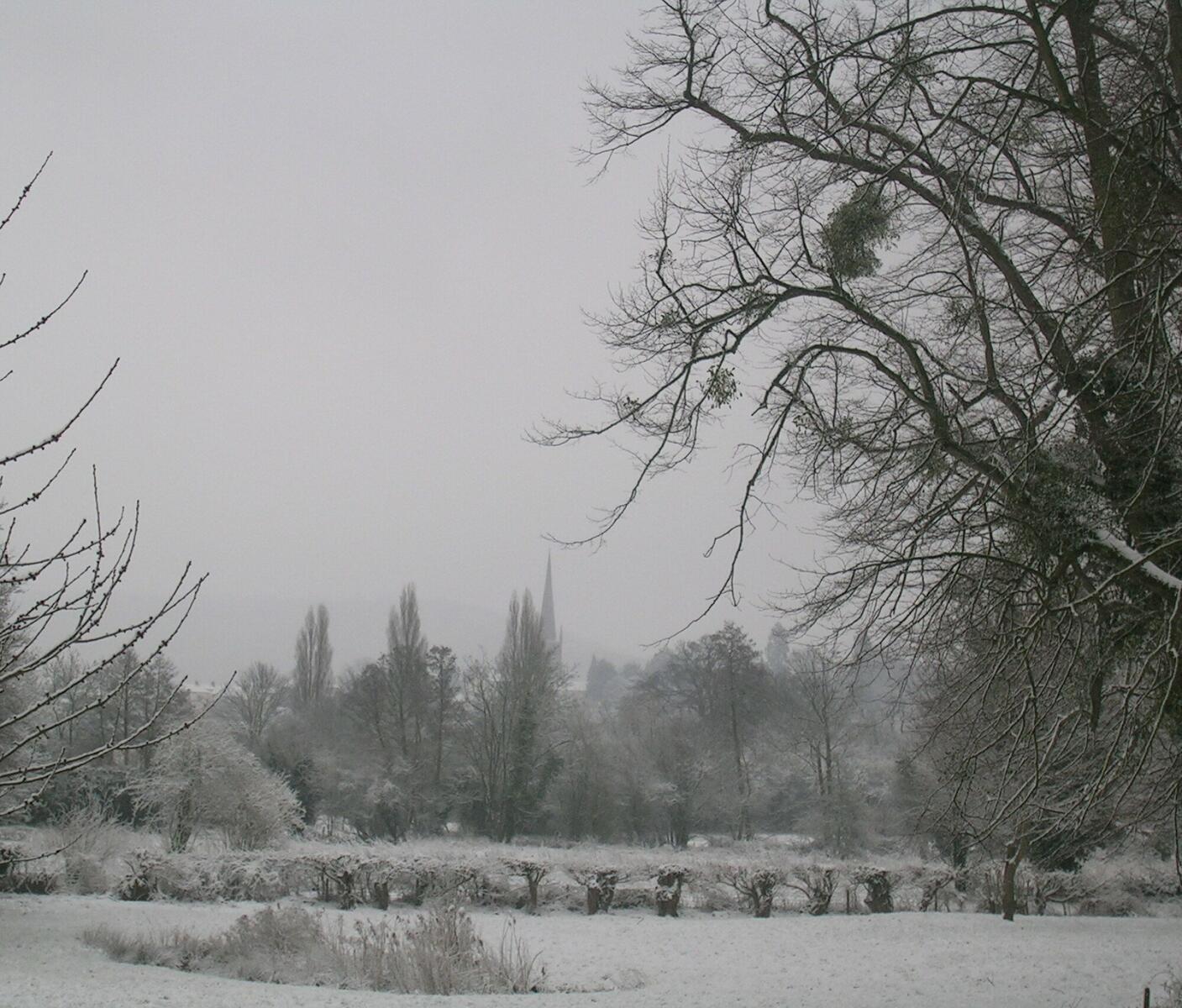 Benhall in snow