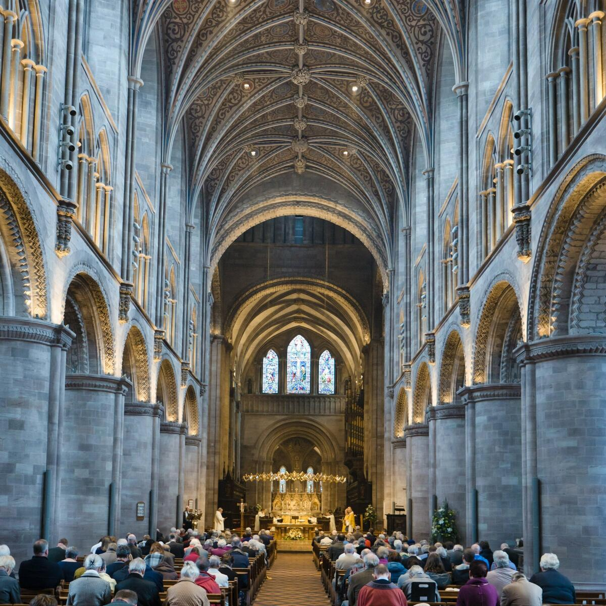 Nave of Hereford Cathedral by Ash Mills Photography