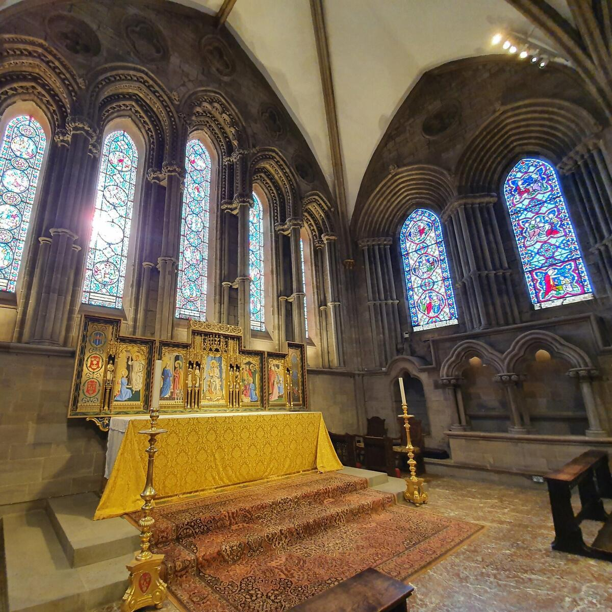Lady Chapel at Hereford Cathedral by Abby Jones