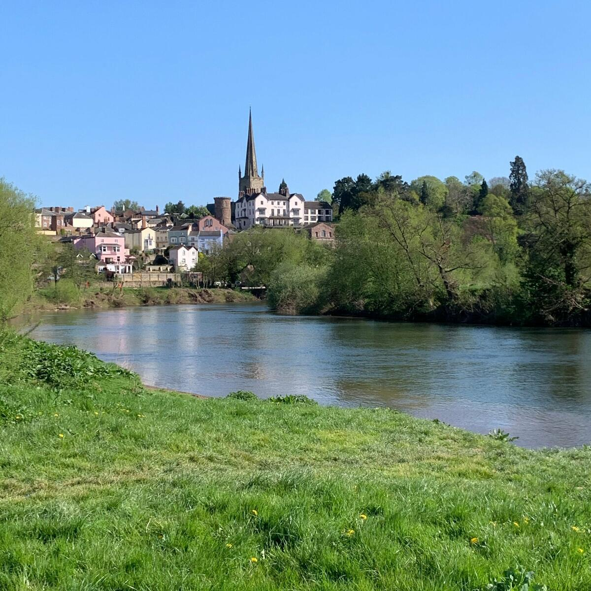 Ross-on-Wye from the riverbank
