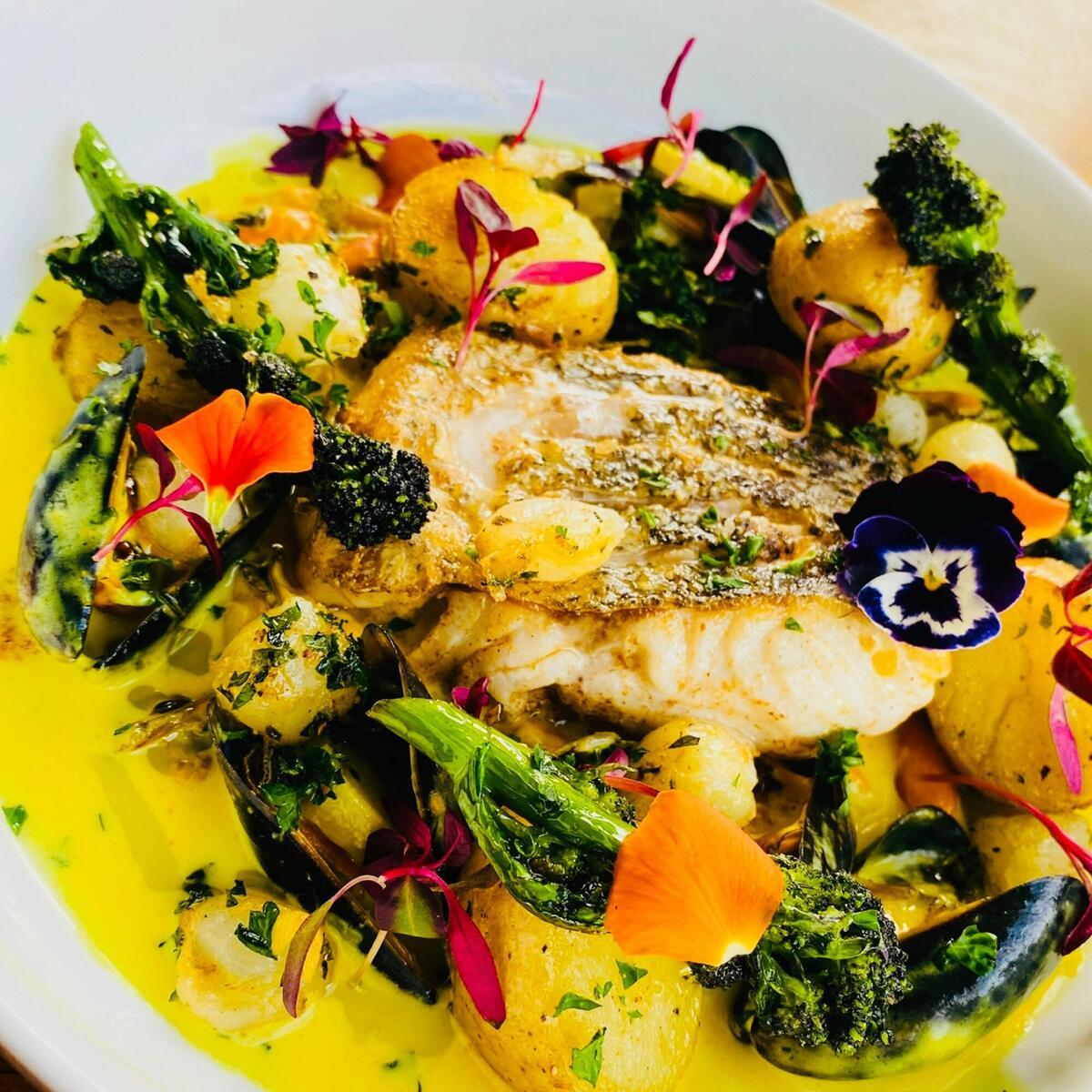 Hake - Curried Veloute