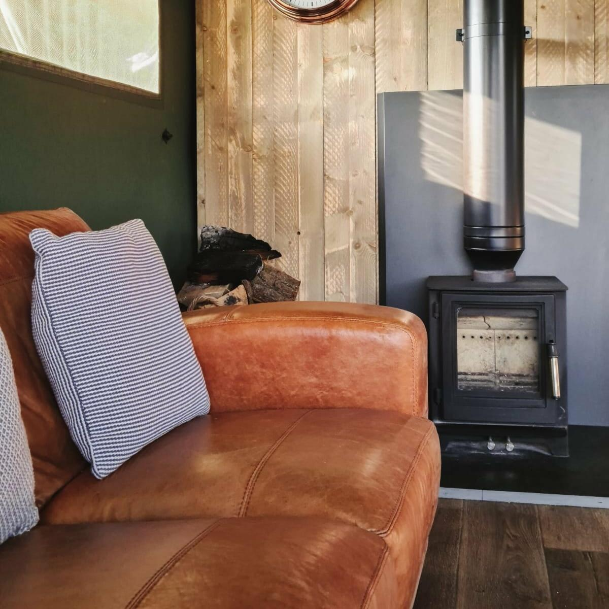 Sofas and wood burning stoves for cosy evenings