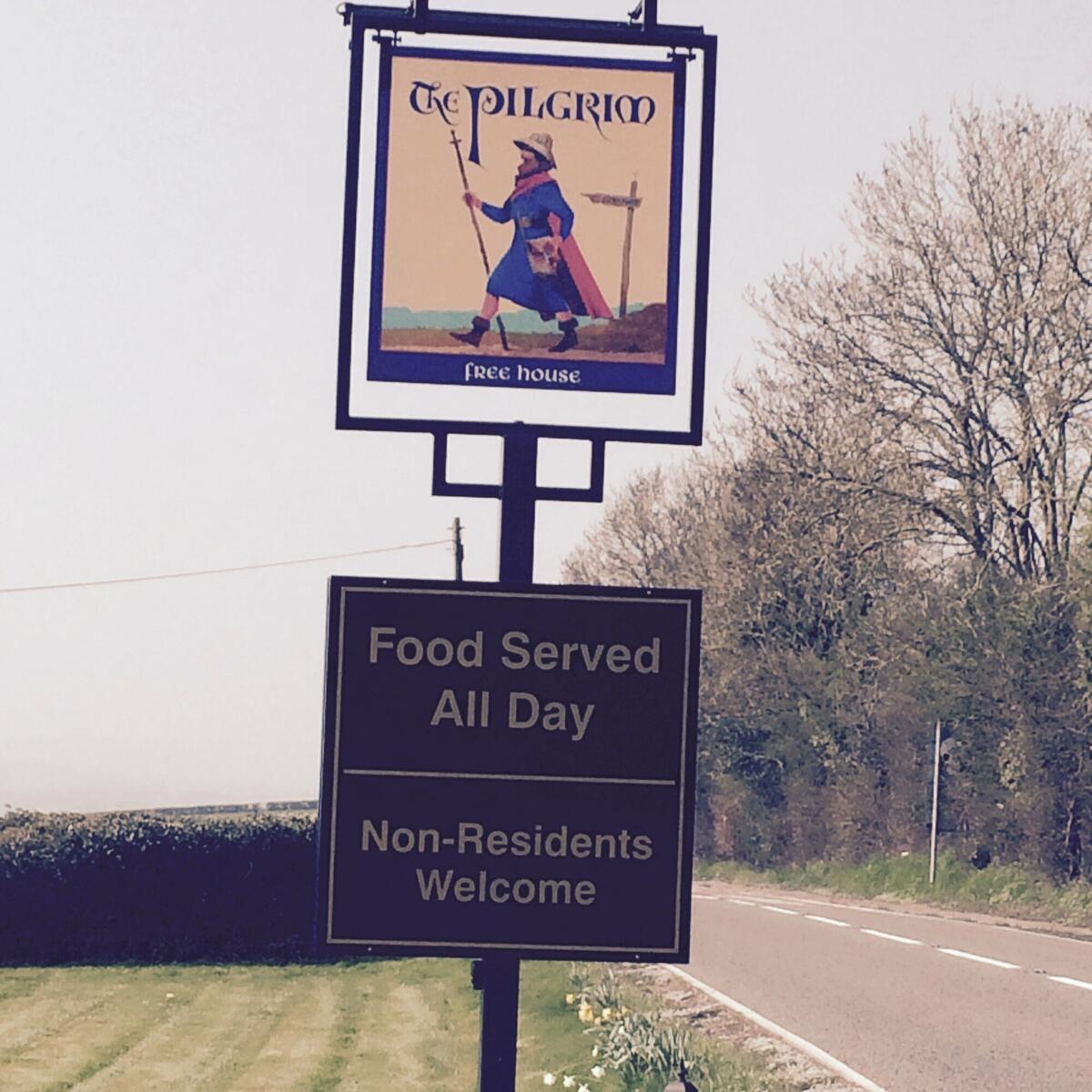Pilgrim Road Sign