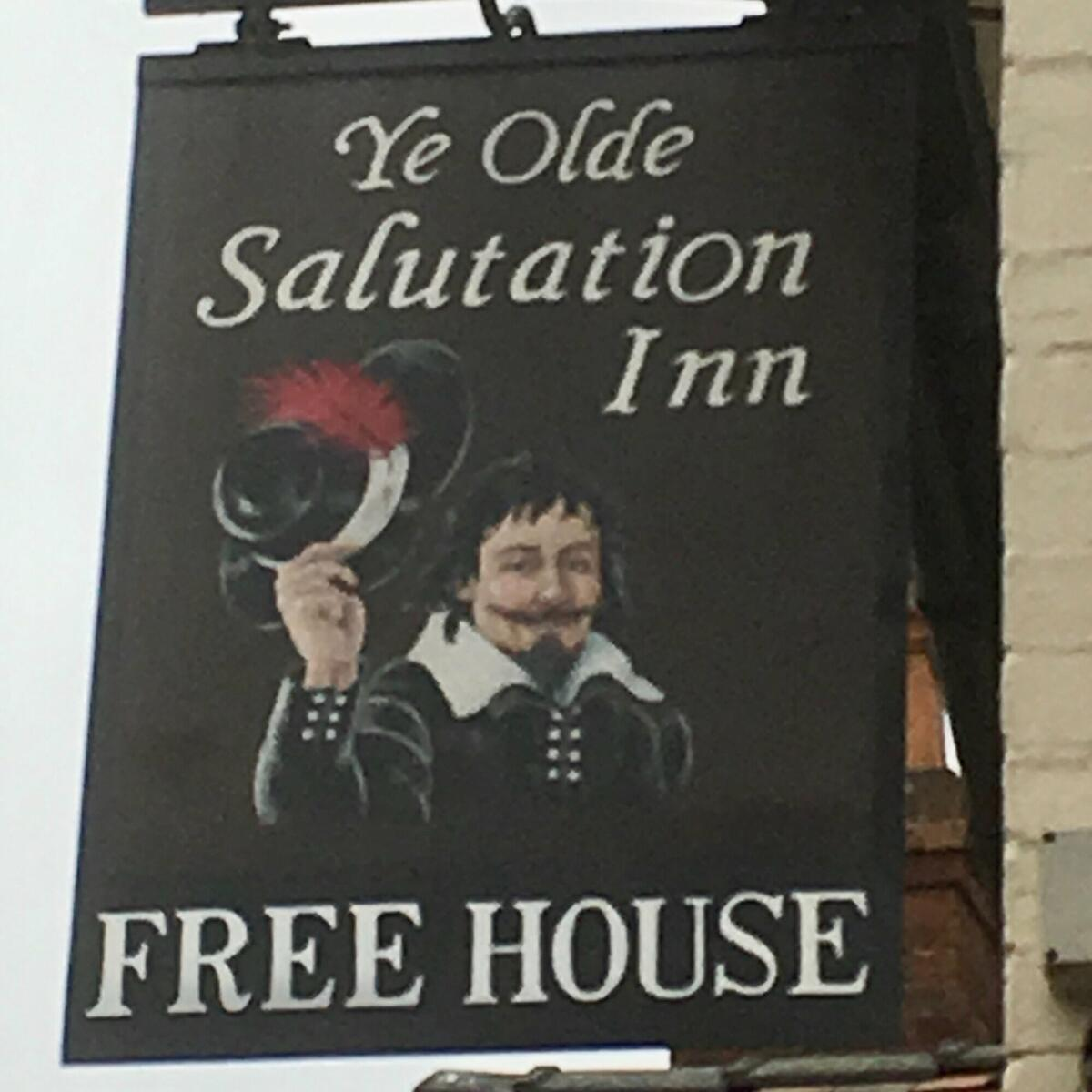 My pub sign, painted by a local artist