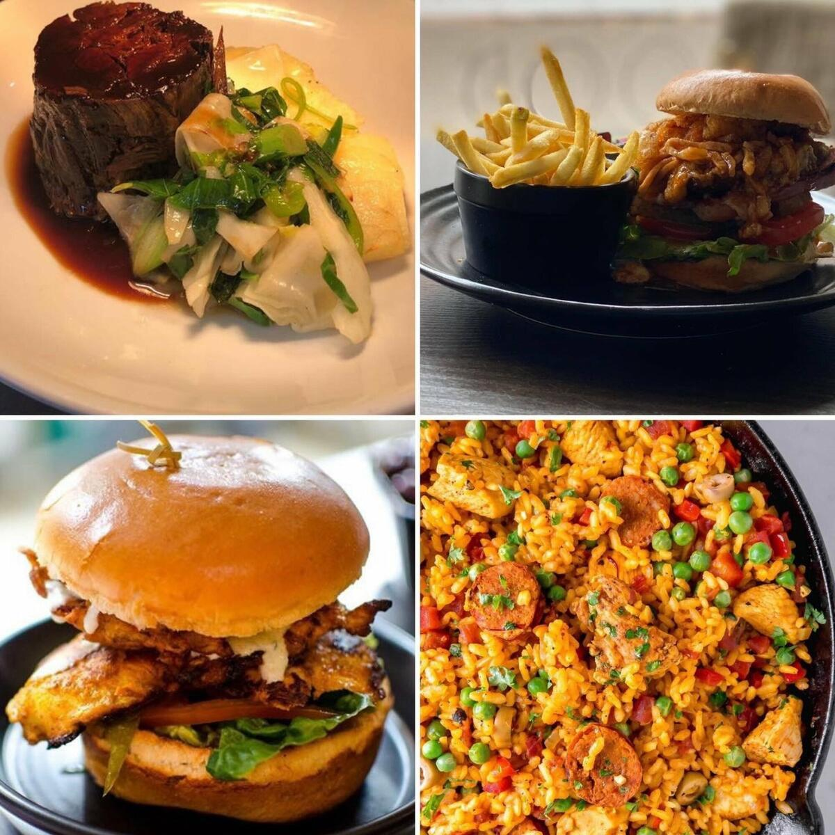 Paella, burgers and more
