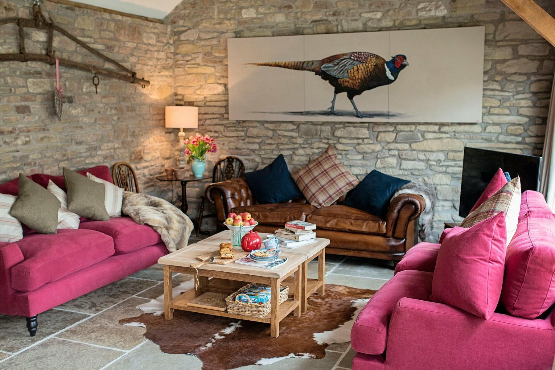 The Old Byre Kitchen/Dining Room Comfy Seating Area