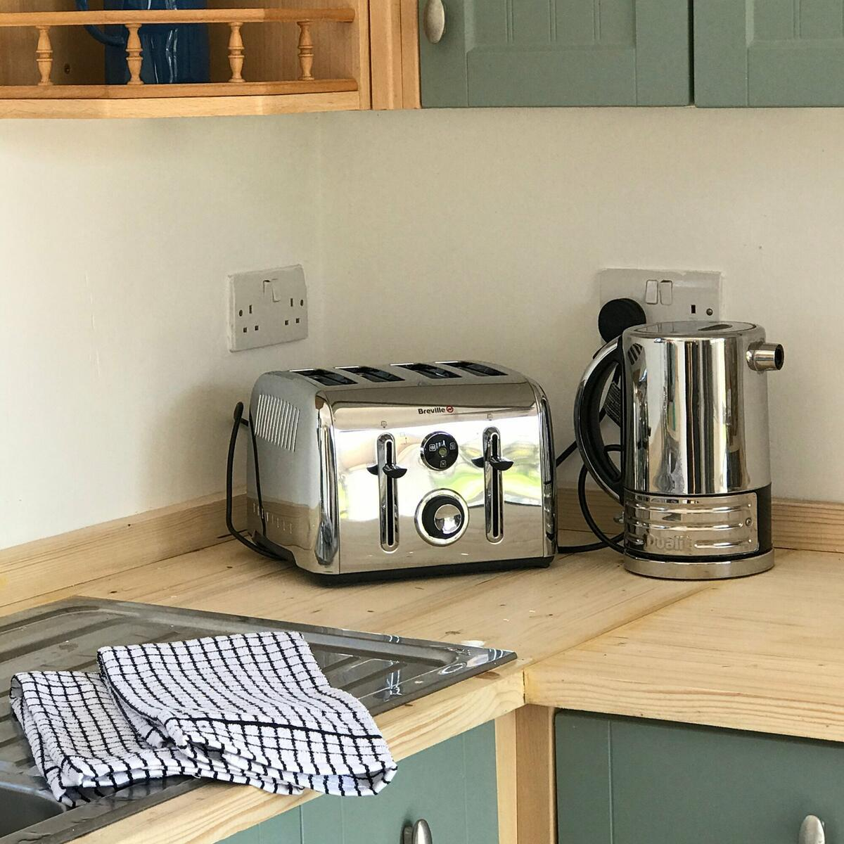 The kitchen comes with just about everything you'll need to rustle up something tasty!