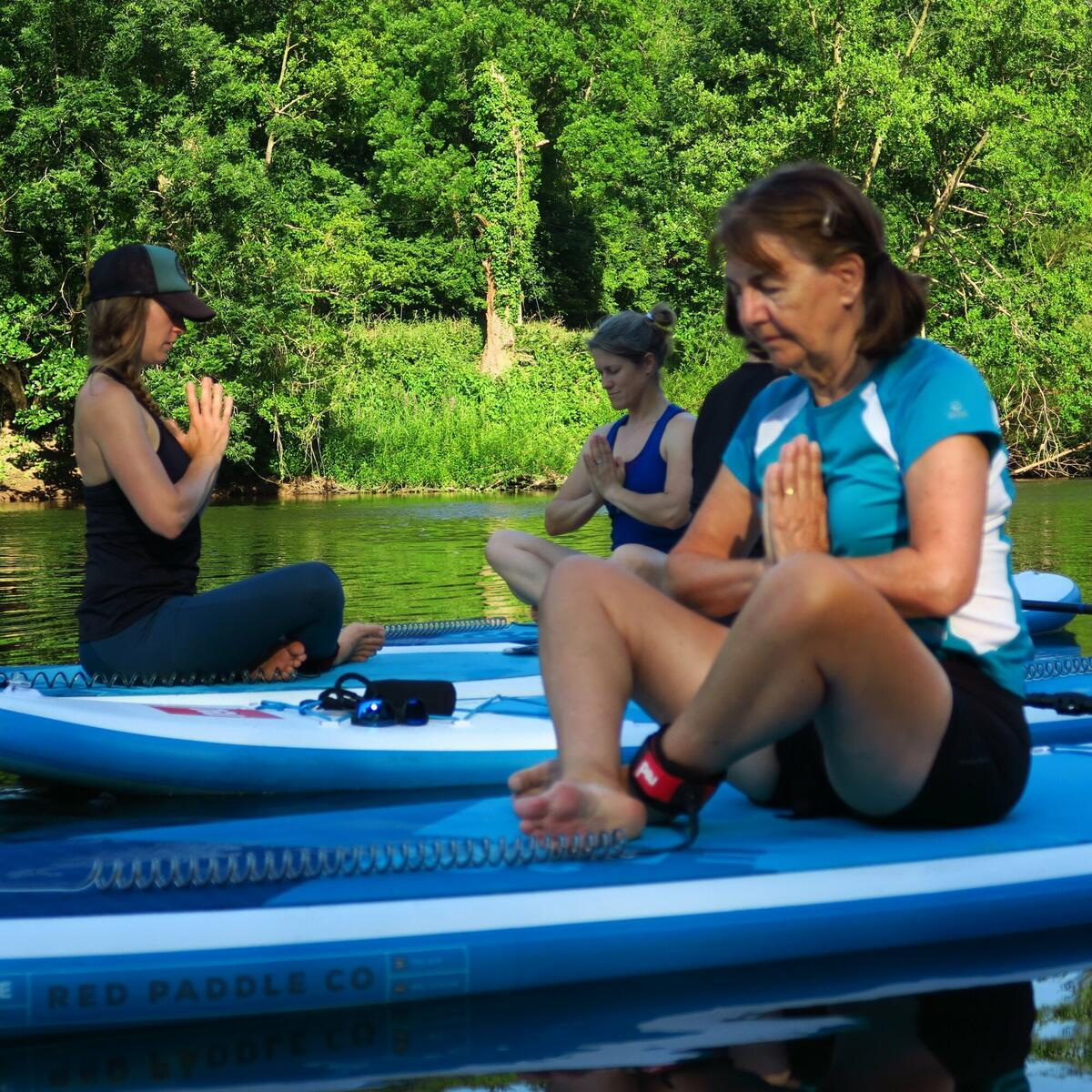 Paddleboarding Yoga