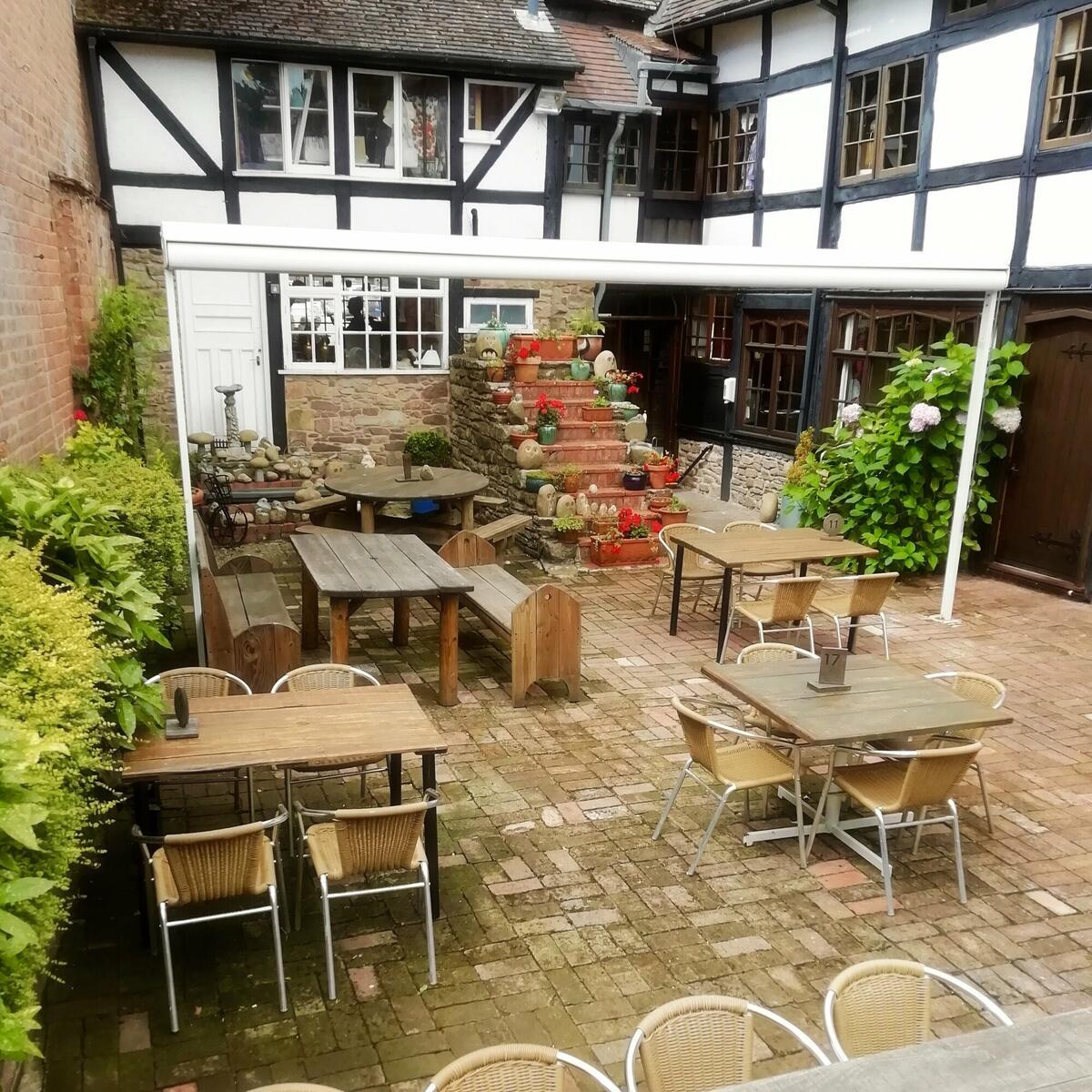 Cafe Walled Courtyard