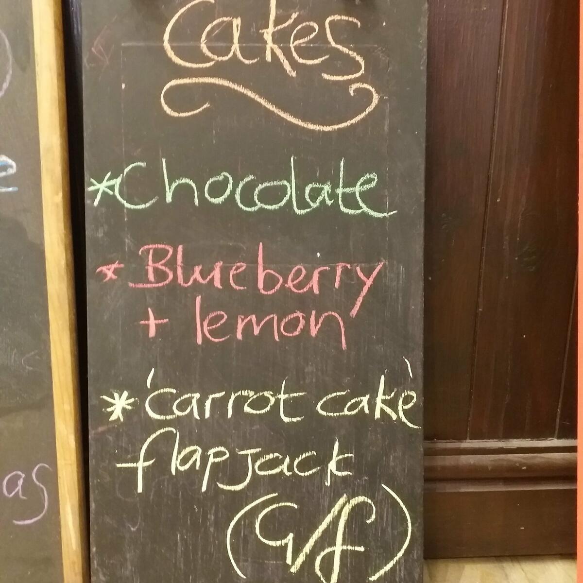 Cake menu changes weekly