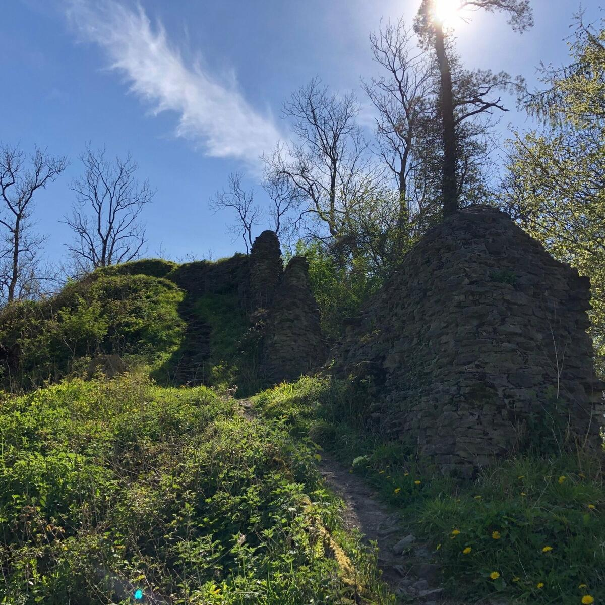 View torwards the remains of the Norman Castle