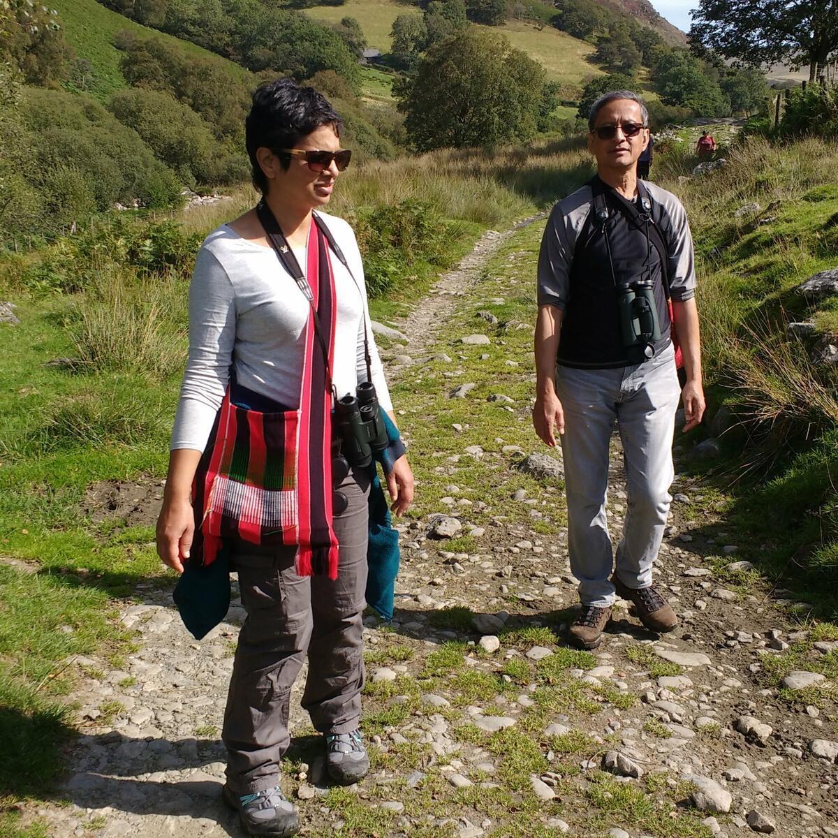Elan Valley Priscilla and John on the move