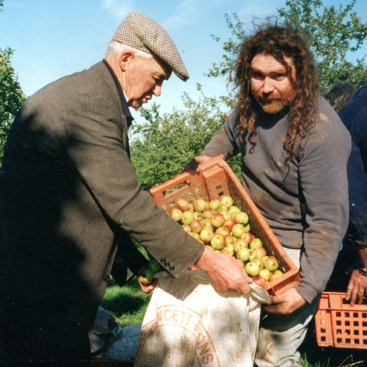 Denis and apples