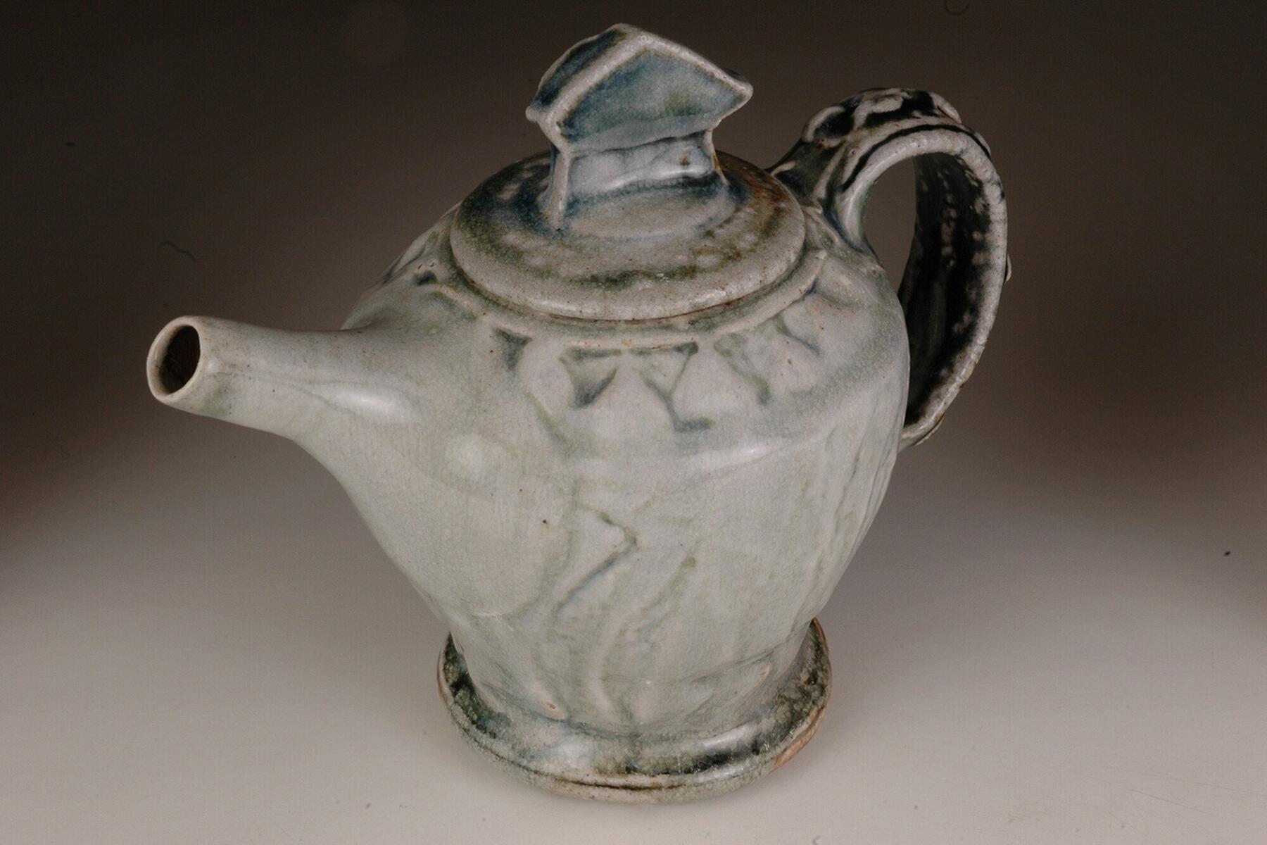 Jeremy Steward wood fired salt glaze teapot