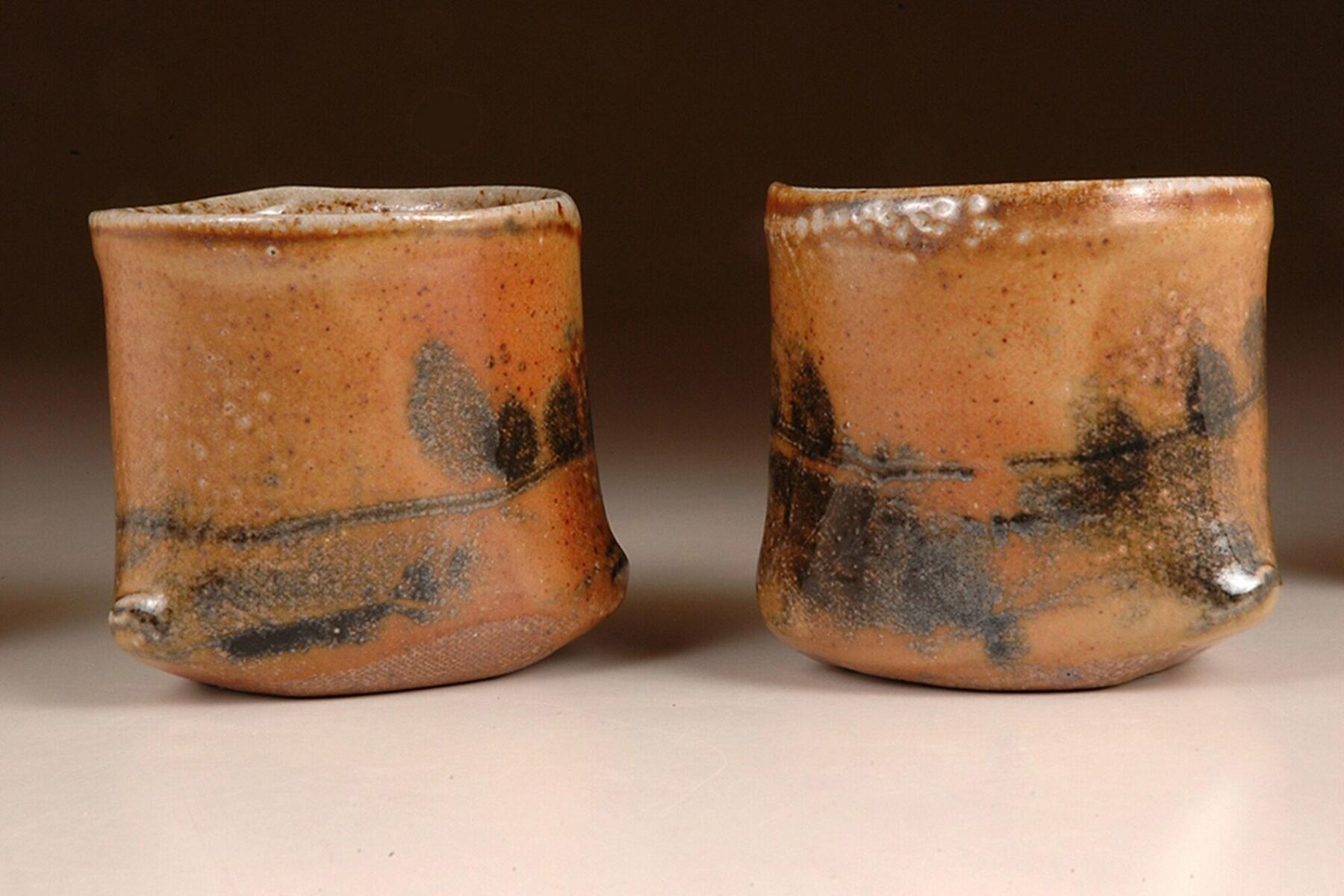 Petra Steward woodfired salt glazed beakers