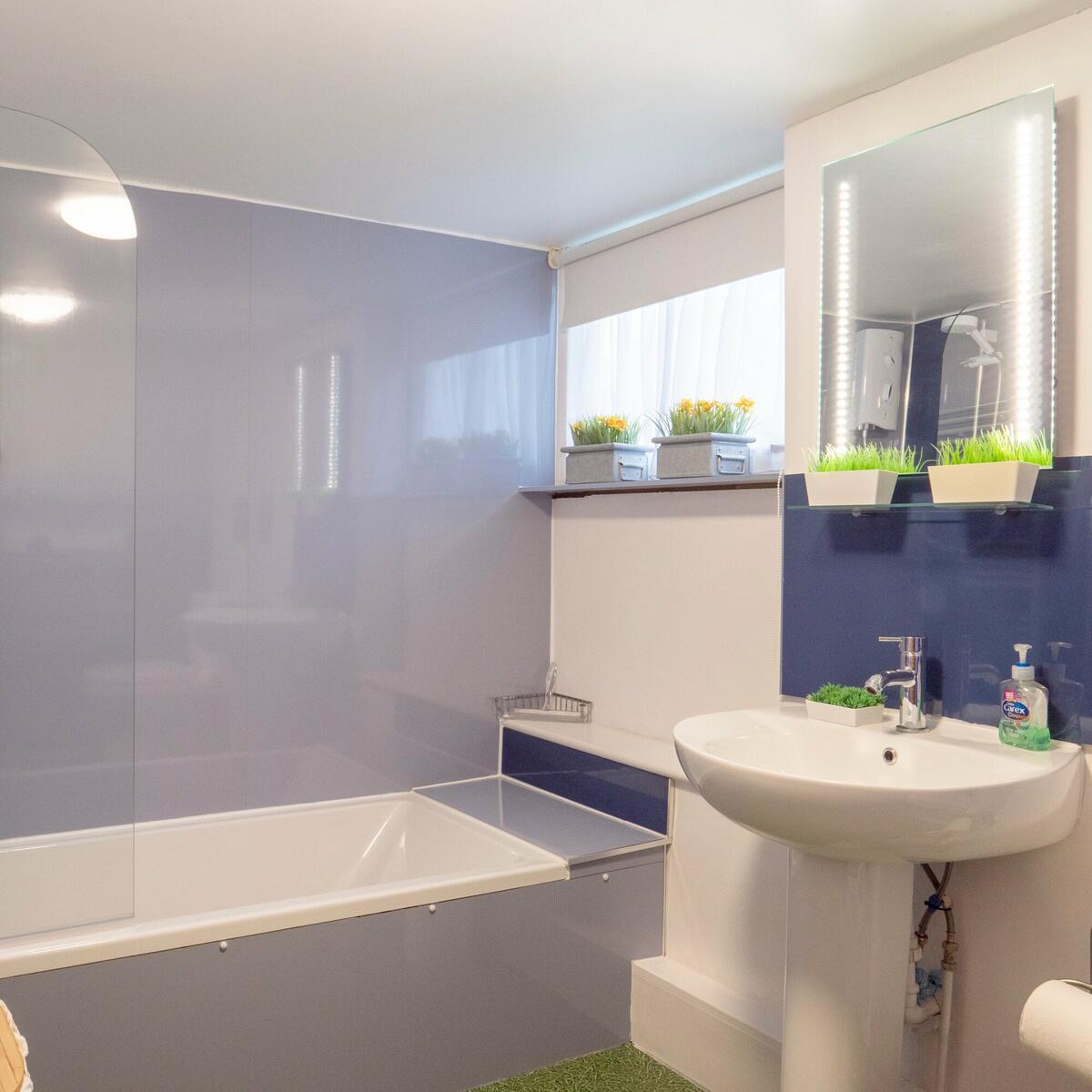 (downstairs) bathroom shower & bath