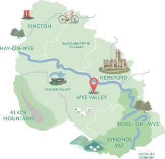 Wye Valley Map